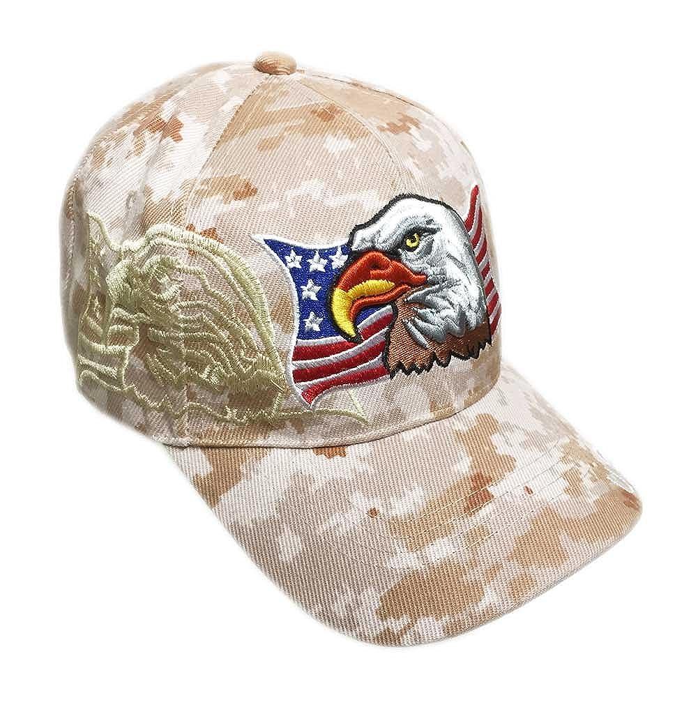 dabd4f20cfb05 Aesthetinc Patriotic USA American Eagle American Flag Baseball Cap  Embroidered hath151eagflag.main larger image