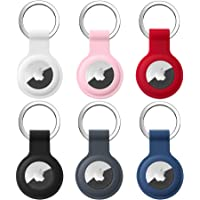 6 Pack AirTag Siliconen Case, Sleutelring voor Apple AirTag Protector Case Airtags Case Beschermende Draagbare…