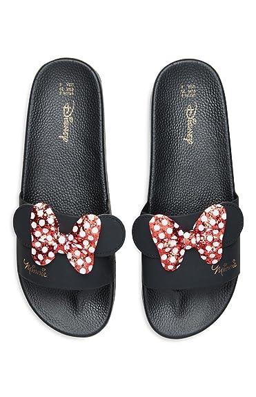 0c1ceac44f7e Primark Ladies Womens Girls Disney Minnie Mouse Pool Sliders Sandals Flip  Flops Beach Shoes UK 3