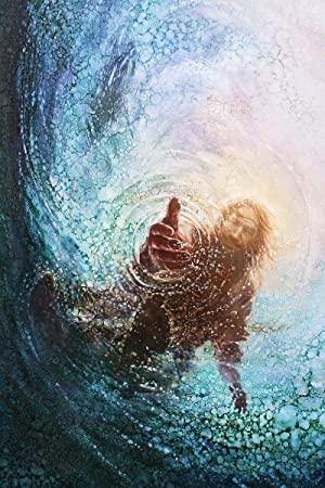 HavenLight Yongsung Kim – The Hand of God Painting – Jesus Reaching Into Water – 16 x 20 Print from