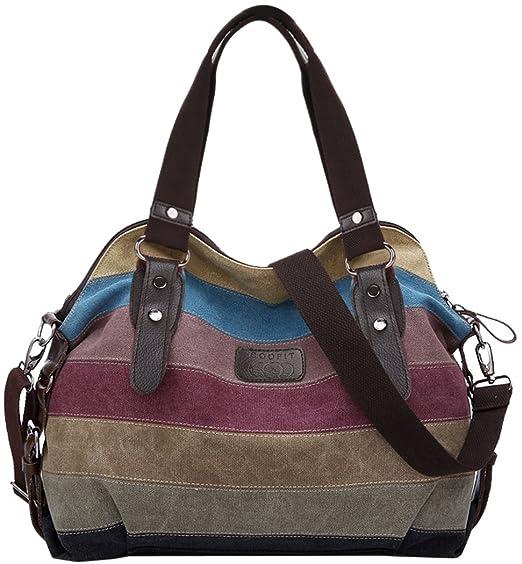 96 opinioni per Coofit Multicolor Borsa Tela Delle Signore Borsetta Messenger Bag …