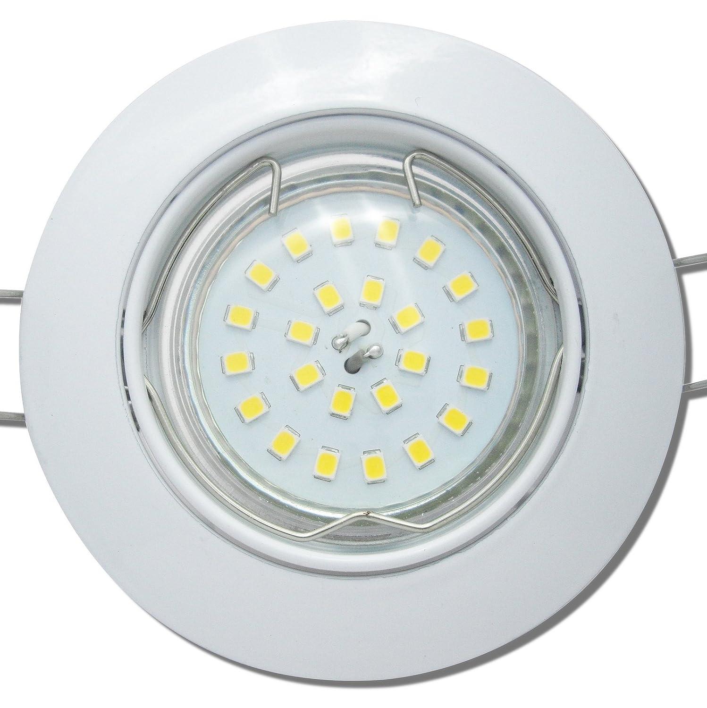 5 Stück SMD LED Einbauleuchte Fabian 230 Volt 9 Watt Schwenkbar Weiß Neutralweiß