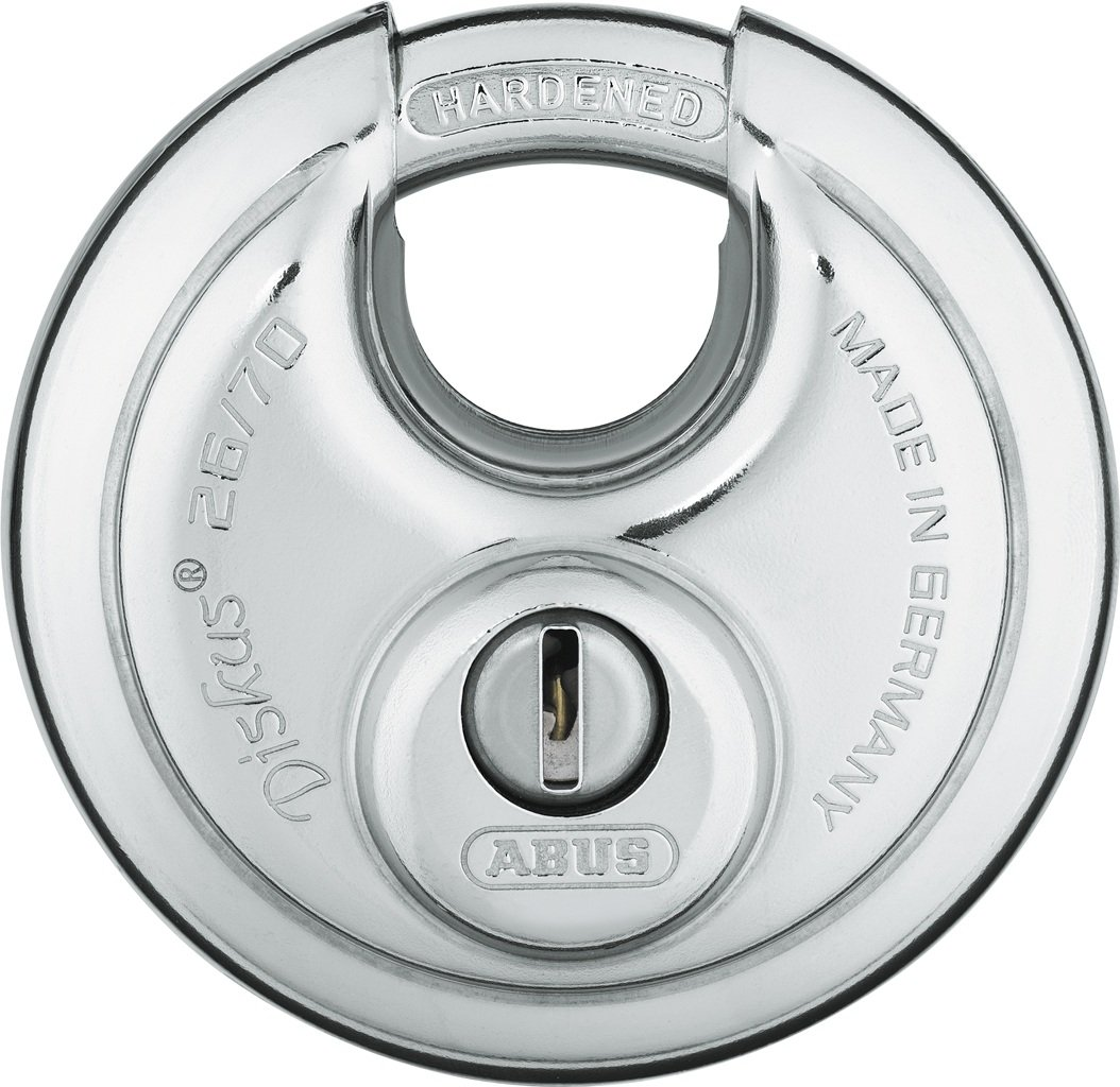 ABUS 26/70 KD B High Security Stainless Steel Keyed Different Diskus Padlock