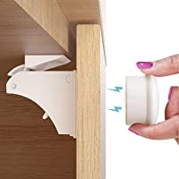 Child Safety Magnetic Cabinet Locks (12 Pack + 2 Key), No Drill Baby Proofing Drawers Lock for Baby Safety, Invisible…