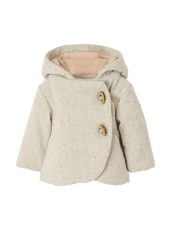 Vertbaudet Baby Girls' Blouson Raincoat Beige Beige Chiné 24 Months - 86 cm