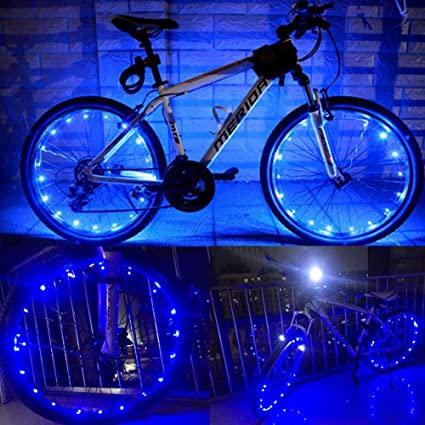 Zeagro - Luz LED para Rueda de Bicicleta, Impermeable, 2 Unidades
