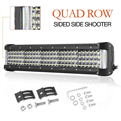 LED Light Bar 15 Inch,Auto Power Plus 390W Side Shooter Led Lights Quad Row Led Driving Light OSRAM Spot Beam Off Road Led Work Light Waterproof Fog Light for Truck Jeep ATV UTV Boat: Automotive