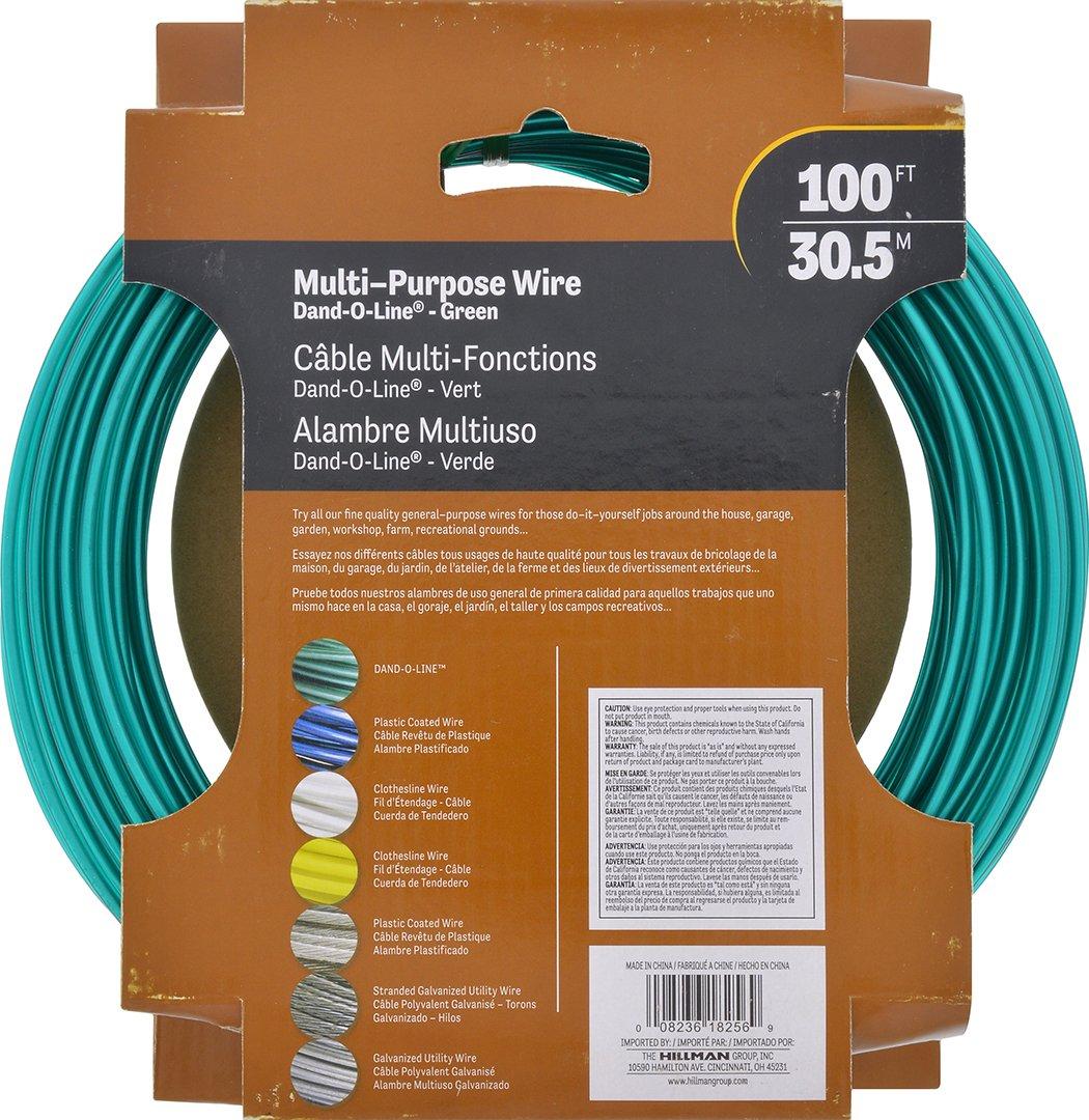 Amazon.com: Hillman Fasteners 122100 100-Feet Green Vinyl Jacketed ...