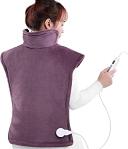 "Heating Pad Large for Back and Shoulder Pain 24""x33"", Thermapulse Relief Wrap Ultra Fast Heating with 6 Heating Levels & 1.5 Hours Auto Shut Off Full Body Muscle Cramps Lower Back Relief, Washable"
