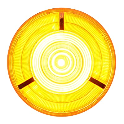 "Grand General 74882 Amber 4"" Prime 18-LED Park/Turn/Clearance Sealed Light with Amber Lens and 3 Pin Light Plug Adapter: Automotive"