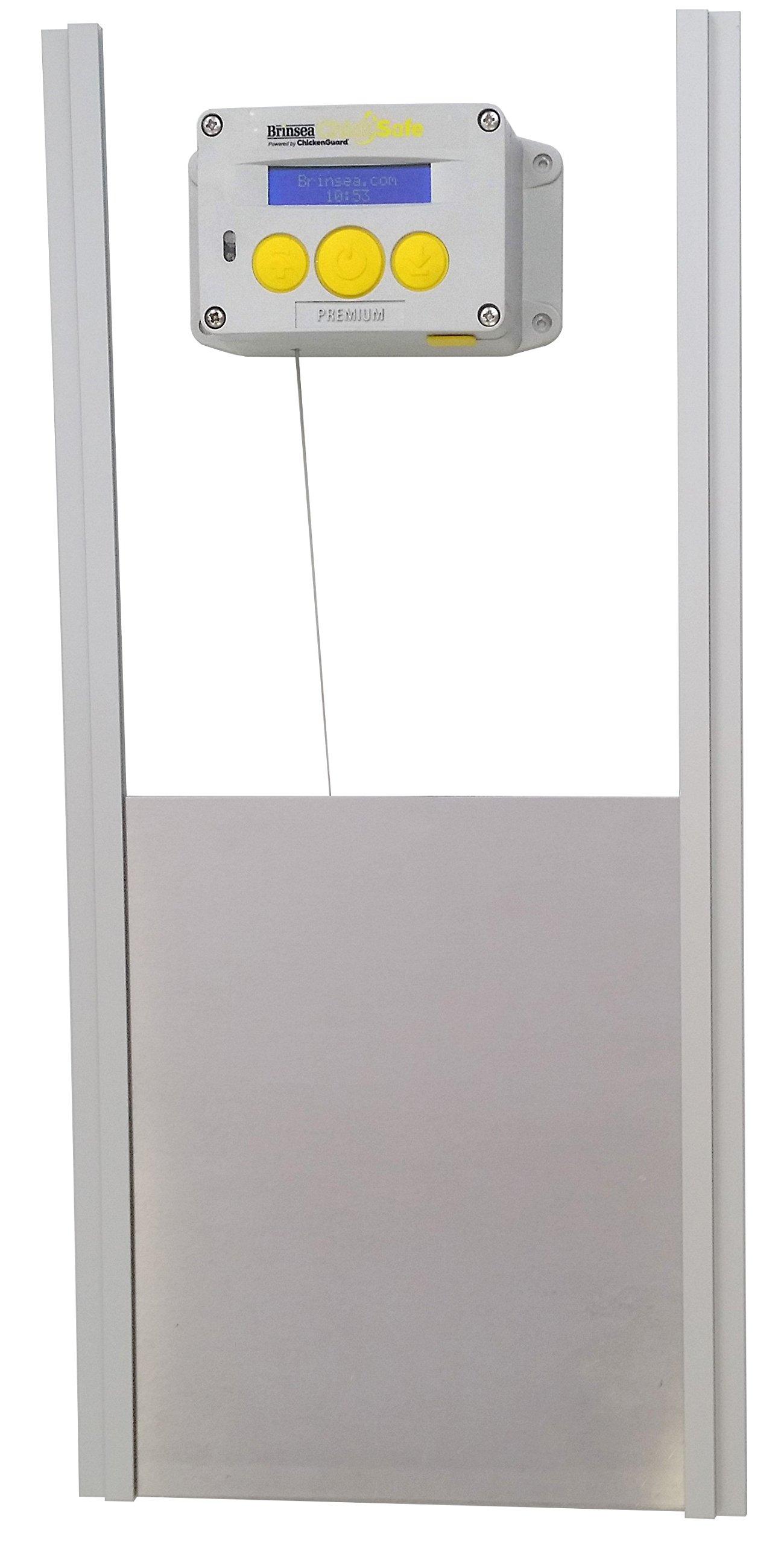 Brinsea Products Chick Safe Premium Automatic Chicken Coop Door Opener and Door Kit, Grey/Yellow