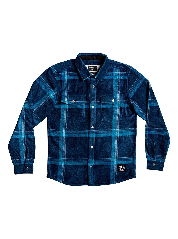 Quiksilver Boys Surf Days - Long Sleeve Polar Fleece Shirt Long Sleeve Polar Fleece Shirt Blue Xs/8