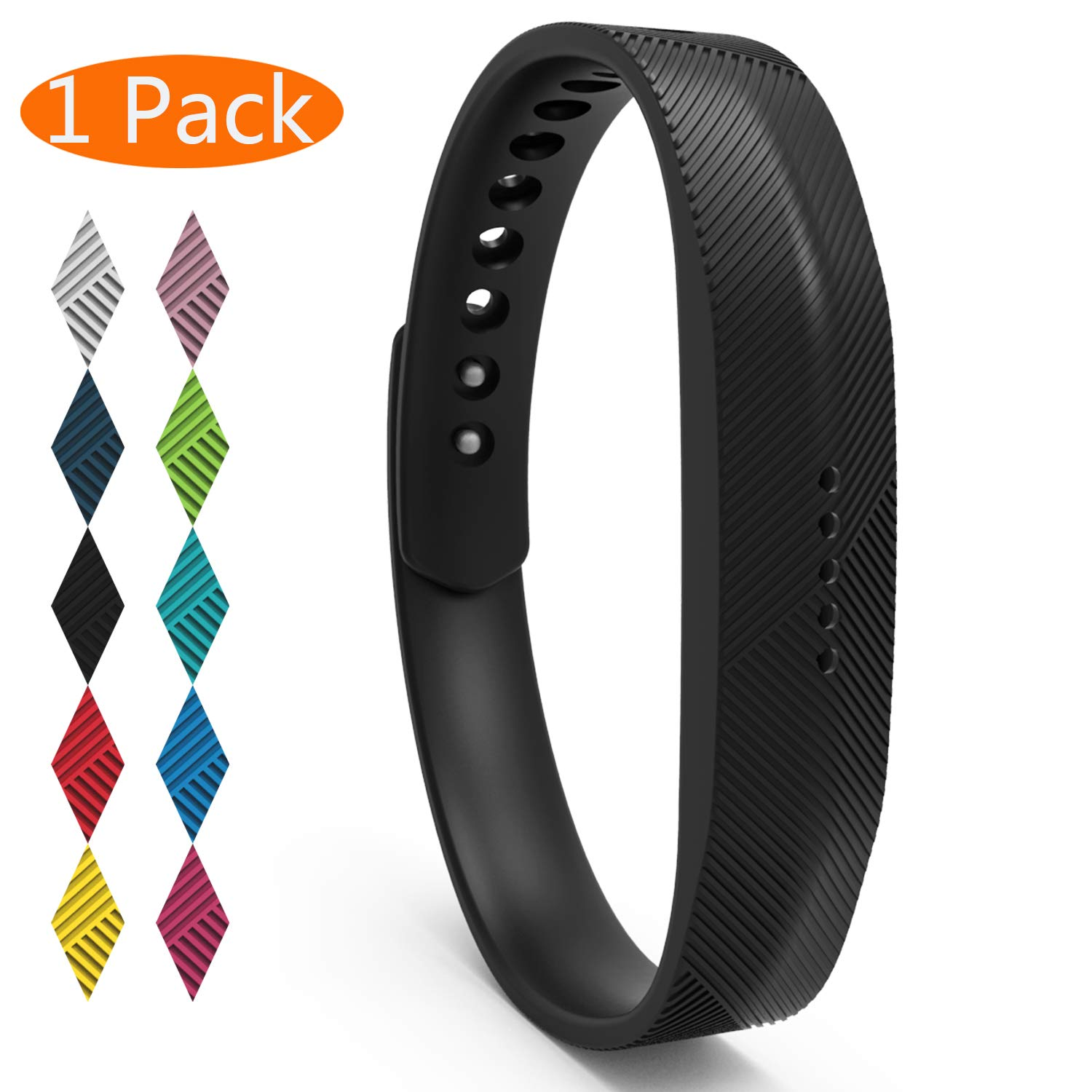 Replacement Sports Wrist Band Strap Clasp For Fitbit Flex 2 Bracelet Large,Small