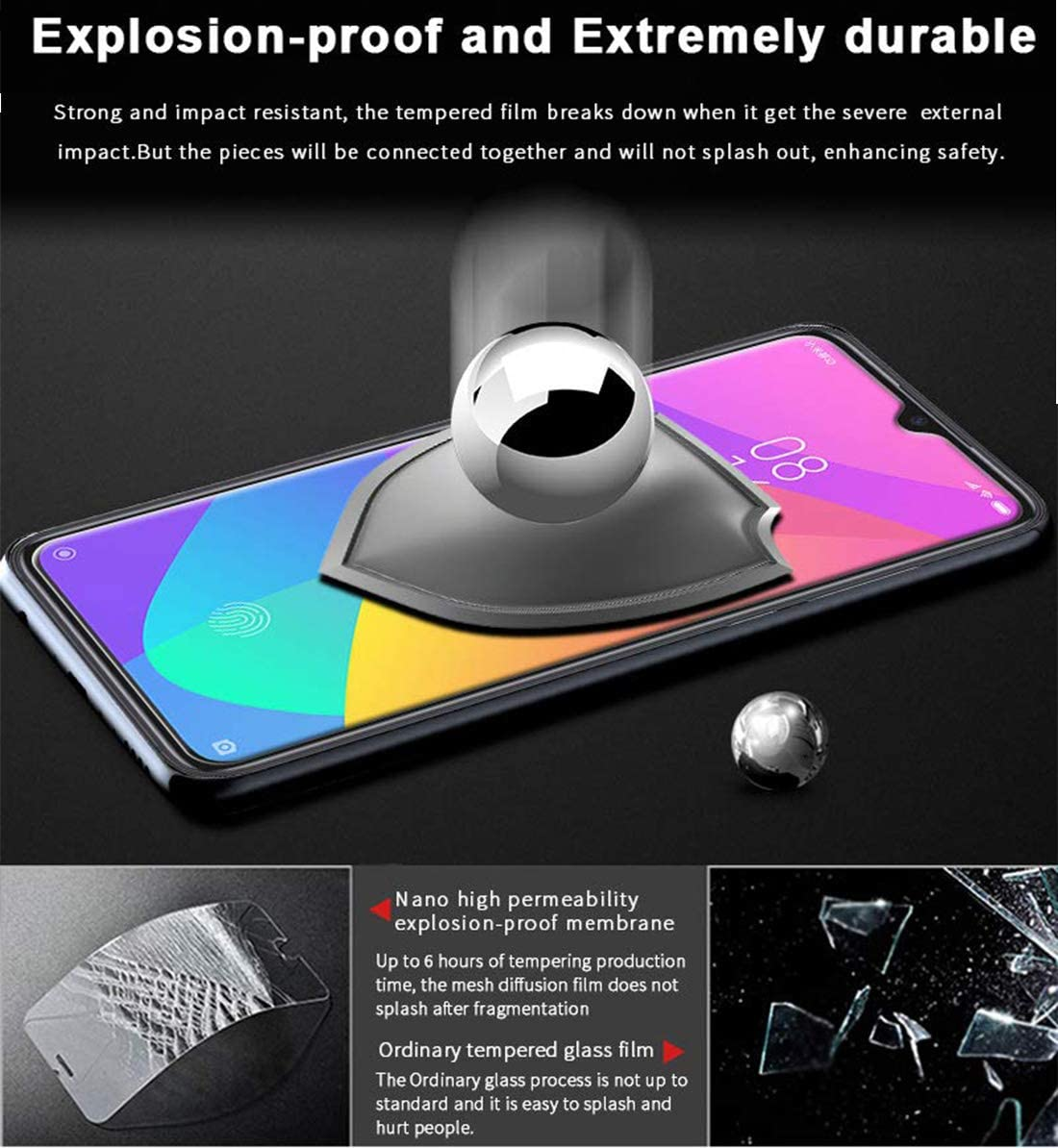 3 Piezas Protector Pantalla para Xiaomi Redmi Note 8 Sin Burbujas, Anti-Ara/ñazos, Funda Compatible, Alta Definicion, 9H Dureza Flysee Cristal Templado para Xiaomi Redmi Note 8,