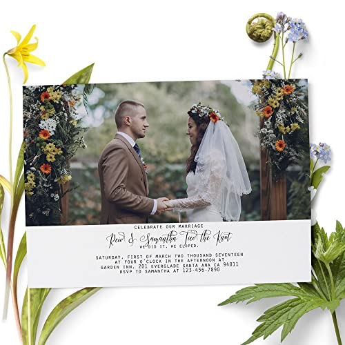 amazon com wedding reception cards elopement reception invitation