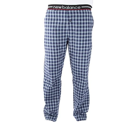 562ea540b1fd1 Amazon.com: New Balance Men's Woven Pajama Sleep Pants - Navy/Blue - Small:  Clothing