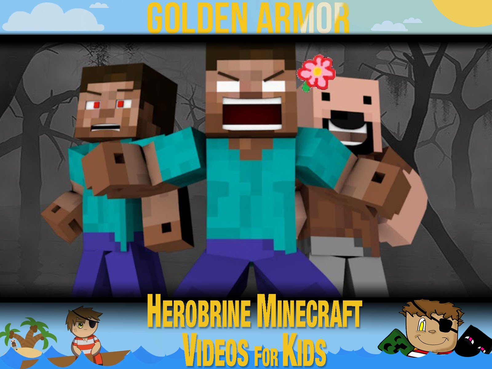 Clip: Golden Armor - Herobrine Minecraft Videos for Kids on Amazon Prime Video UK
