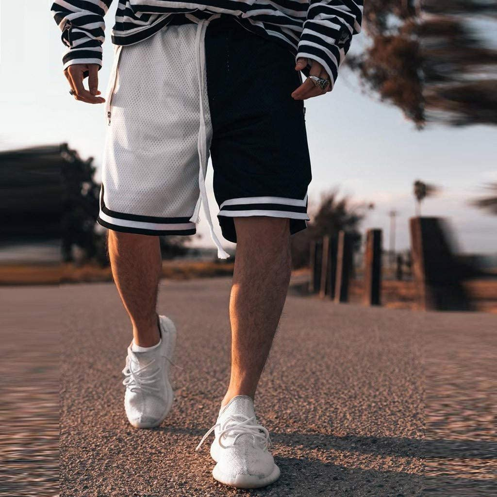 Casual Outdoor Basketball Fitness Pants Solid Loose Quick Dry Drawstring Short Pants Mens Classic Sport Short