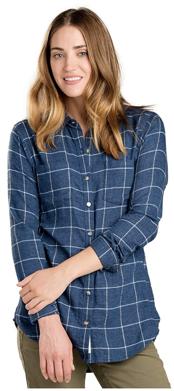 Deep Navy Toad&Co Cairn LS Shirt  Women's