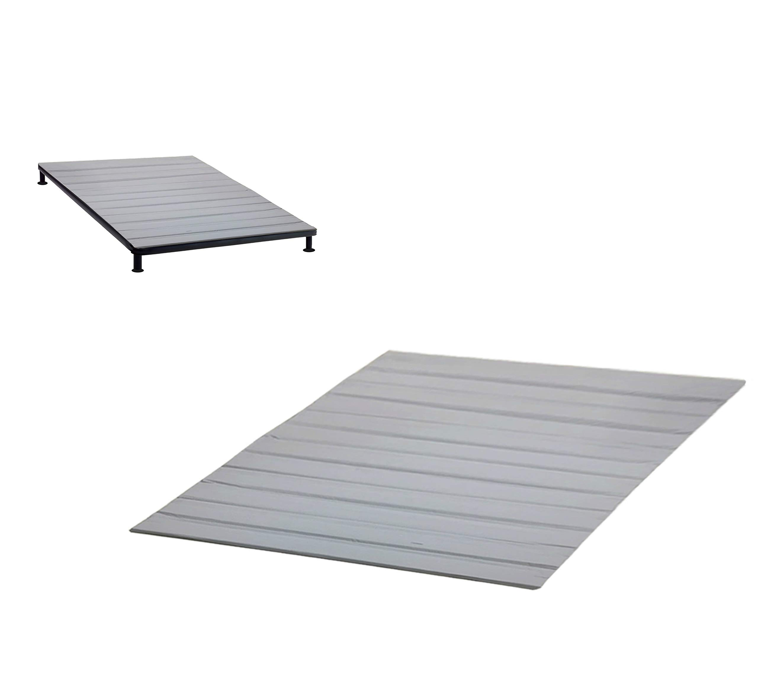 Greaton HCSBv-4/6 Heavy Duty Mattress Support Wooden Bunkie Board/Slats with Cover, Full Size
