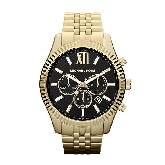 Michael Kors Reloj Cronógrafo para Hombre de Cuarzo con Correa en Acero Inoxidable MK8286: Amazon.es: Relojes
