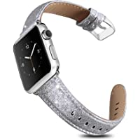 Umaxget Leather Bling Band for Apple Watch