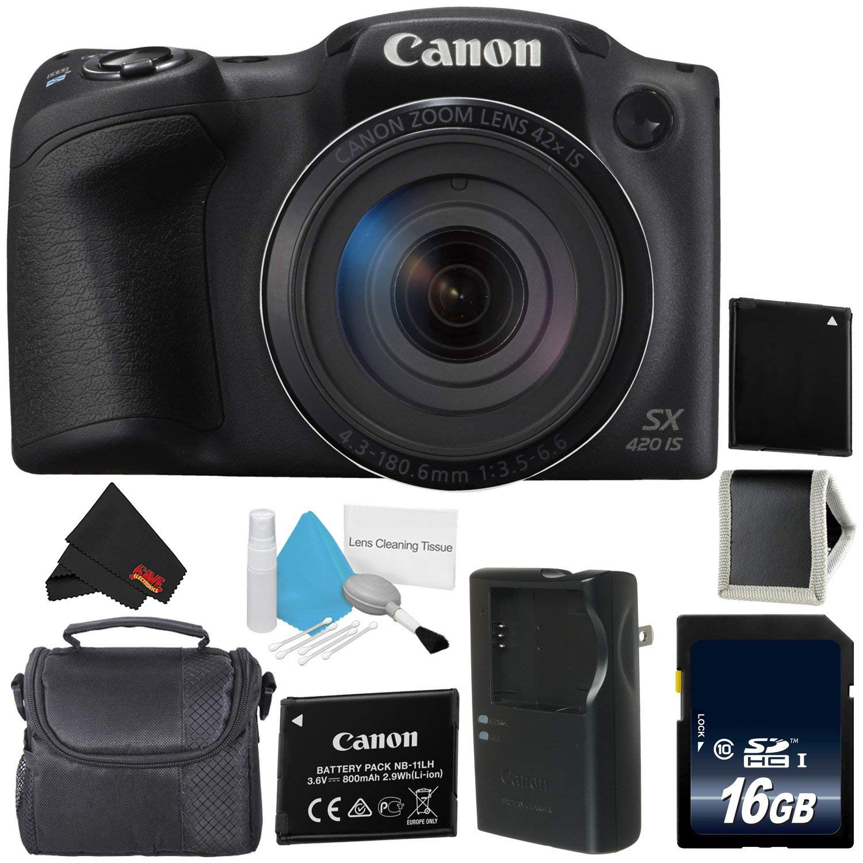 Canon PowerShot SX420 es cámara Digital (Negro) 1068C001 ...