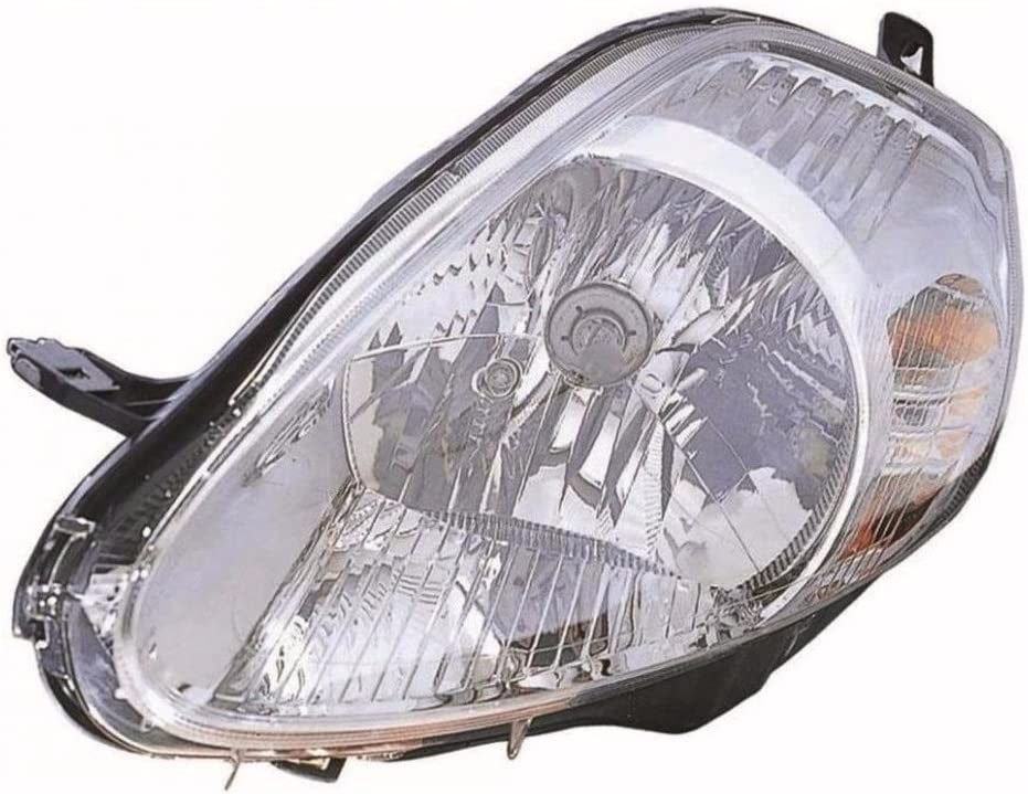 Depo HL5017 Headlight Chrome 14 Hole 7 Pw Mtr Left NS Side