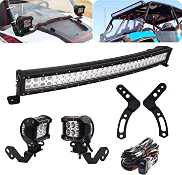2PC Roll Cage Light Cube Bracket for POLARIS RZR XP 900 1000 2014 2015 2016 2017