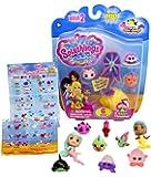 Splashlings Wave II Six Pack Playset- One Mermaid, Four Splashlings, And One Treasure Shell