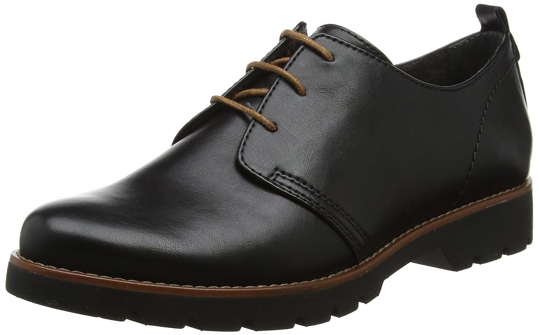 Jana 23704, Zapatos de Cordones Oxford para Mujer 42 EU Negro (Black Nappa)