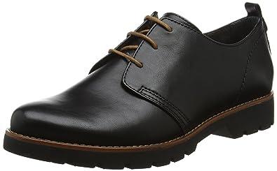 Jana 23704, Zapatos de Cordones Oxford para Mujer, Rojo (Vino Met. Pat.), 42 EU