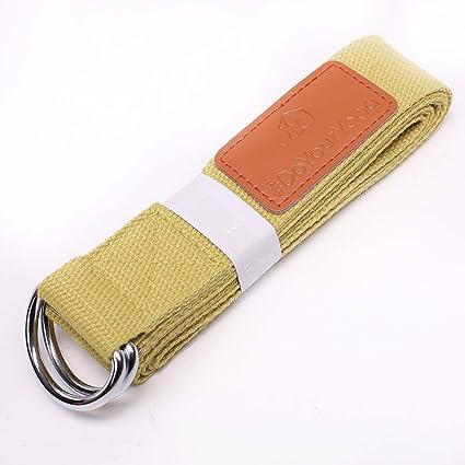 #DoYourYoga Cinturón de Yoga »Amita« / Correas para Yoga con Cierre en Forma de Anillas metálicas / 260 x 3,8 cm/Disponible en 13