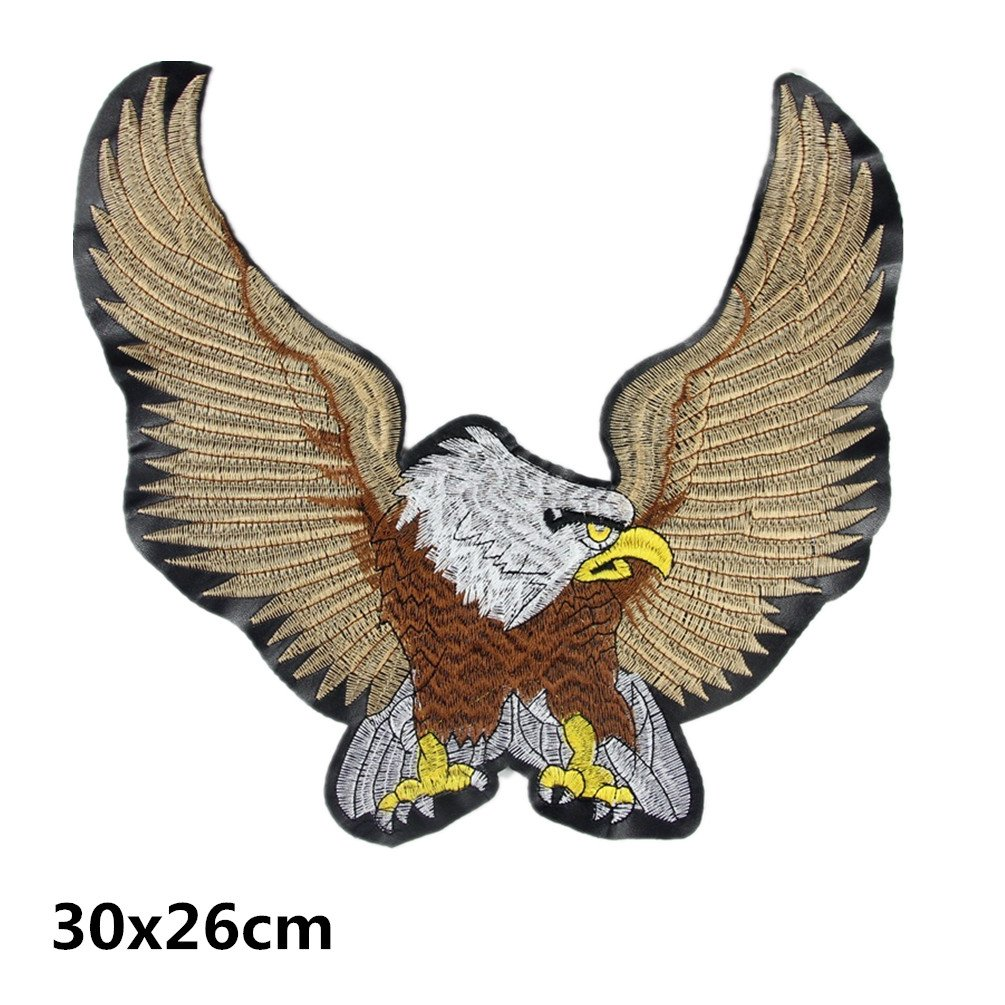 Bella Toppa Patch Applique Aquila US Bandiera Americana Ricamato Termoadesive Motorcycle Rider Toppa Biker Patch Harley Moto Badge Patch per T-shirt Giacca