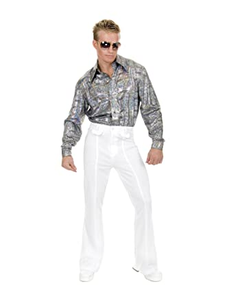 e8a4a871 Amazon.com: Disco Pants Adult Costume White - 44: Clothing
