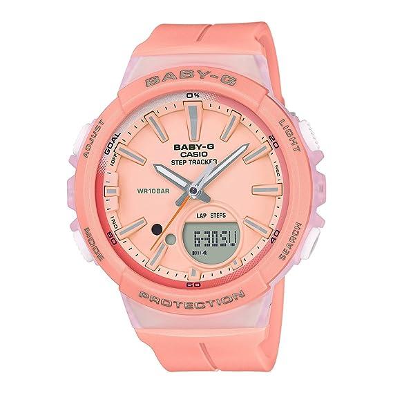 Casio Reloj Analogico-Digital para Mujer de Cuarzo con Correa en Resina BGS-100-4AER: Amazon.es: Relojes