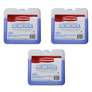 "Rubbermaid - Blue Ice Brand Weekender Pack, 7"" x1.63"" x 6.75 (3 Pk),Reusable"