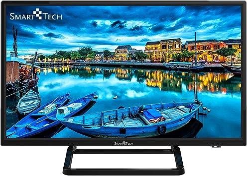 Smart-Tech SMT24P28SA41 Smart Televisor HD de 24 Pulgadas con Certificación HD, Imagen de Alta Definición, con Sintonizador Triple Incorporado y Wi-Fi (DVB-T2 / T/C / S2 / S, Negro): Amazon.es: Electrónica