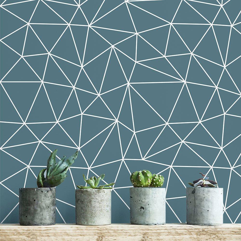 AdzifSpider Blue Wall Decals Multicolored