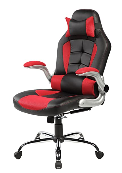 amazon com merax high back ergonomic pu leather racing chair