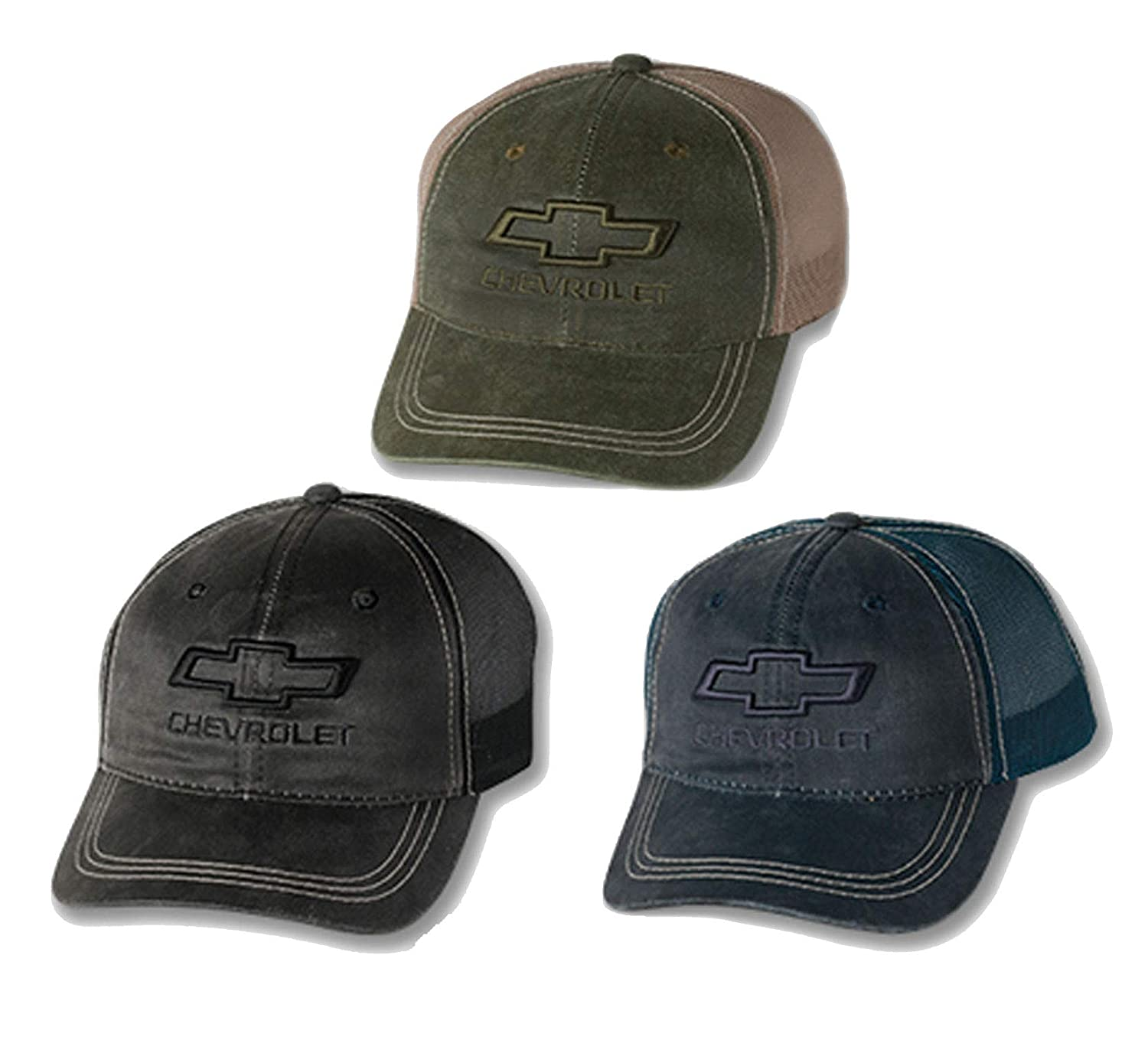 Bundle with Driving Style Decal Olive Gregs Automotive Compatible Chevrolet Chevy Bowtie Weathered Hat Mesh Back