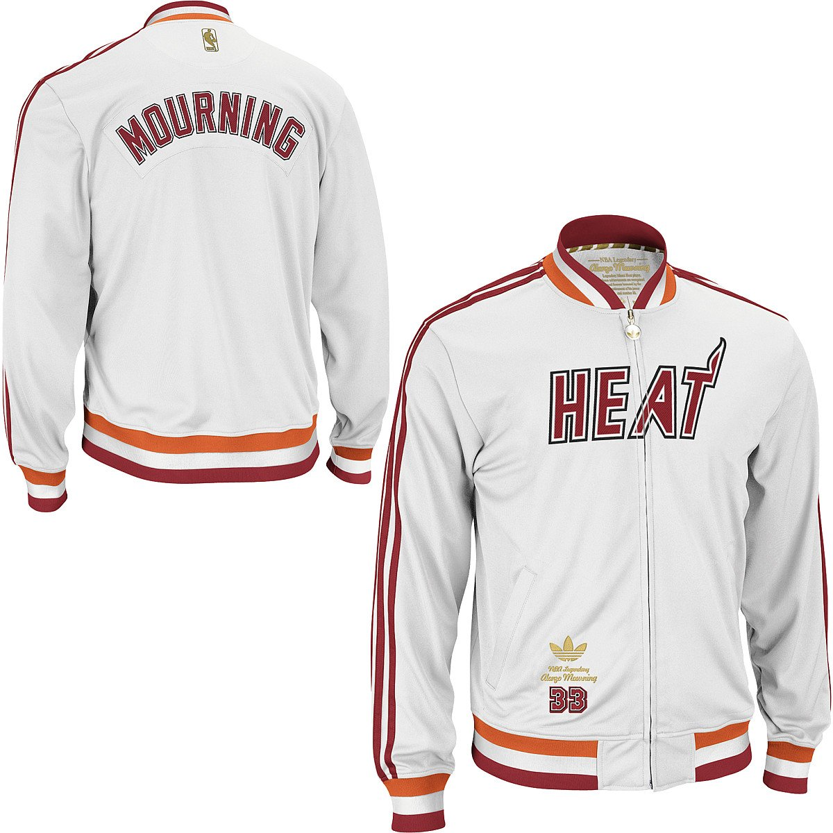 adidas Alonzo Mourning Miami Heat Originals Retro Legendary Player ...