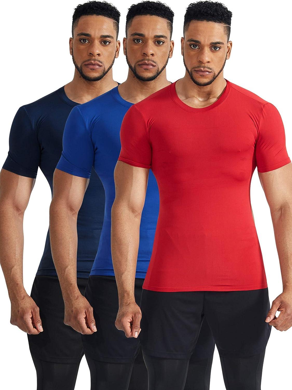 Cadmus Mens Compression Workout Running tee Shirt