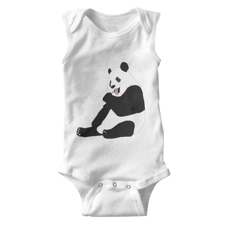 704d54531 Amazon.com  Cartoon Cute Panda Eat Bamboo Infant Cotton Sleeveless ...