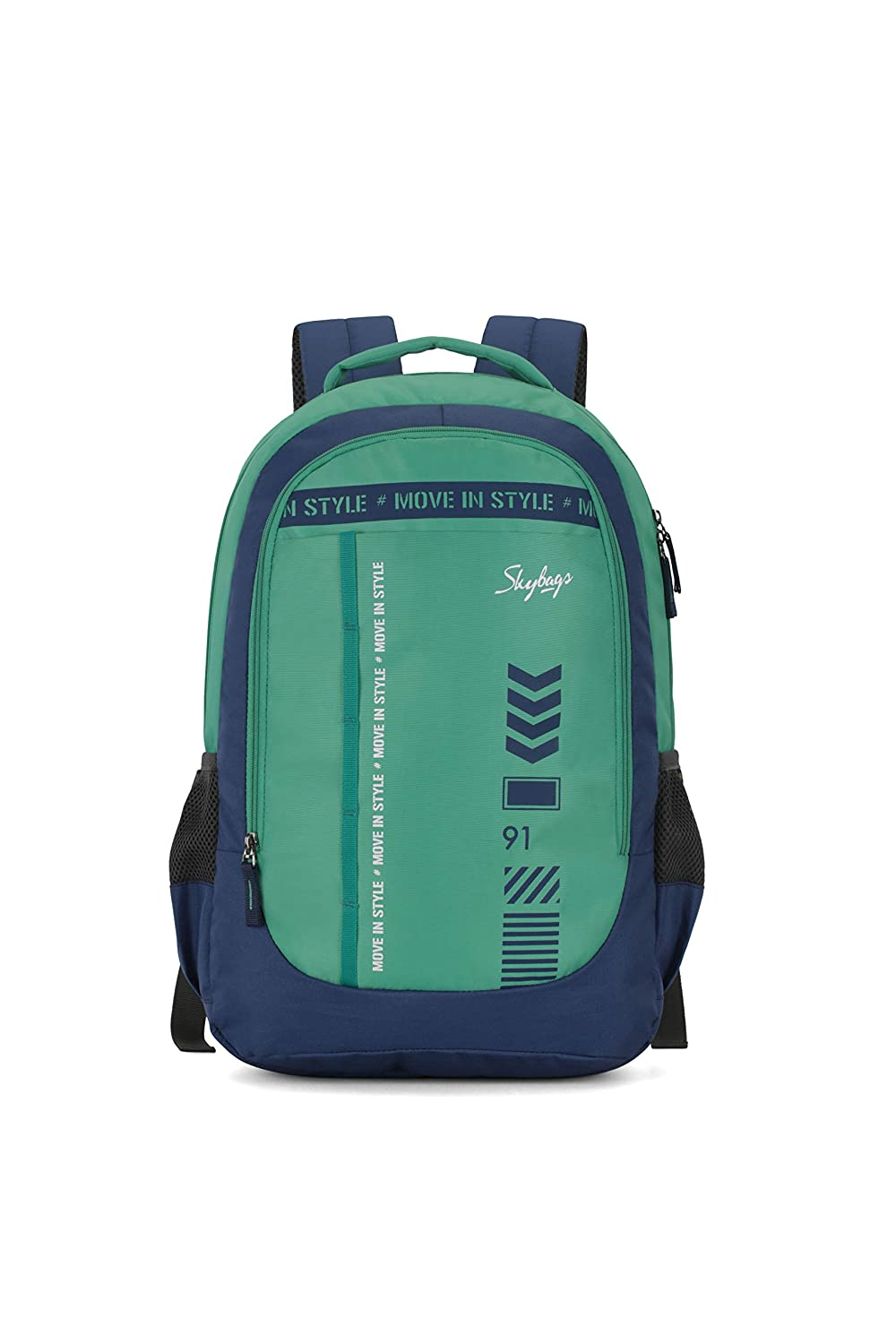Skybags Beatle 02 27 Ltrs Green-Blue Casual Backpack