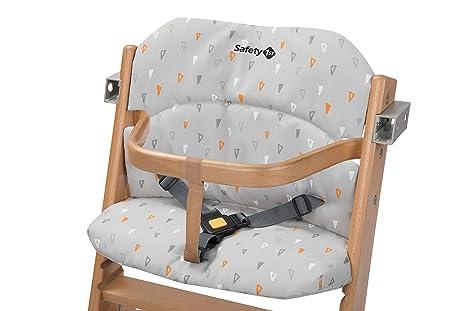 Safety 1st 2003191000 Timba Comfort Cushion - Cojín para trona (fijación rápida y sencilla, lavable), color gris