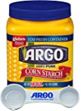 Argo Corn Starch - 16 Ounce Convenient Resealable Container - with Argo Measuring Scoop