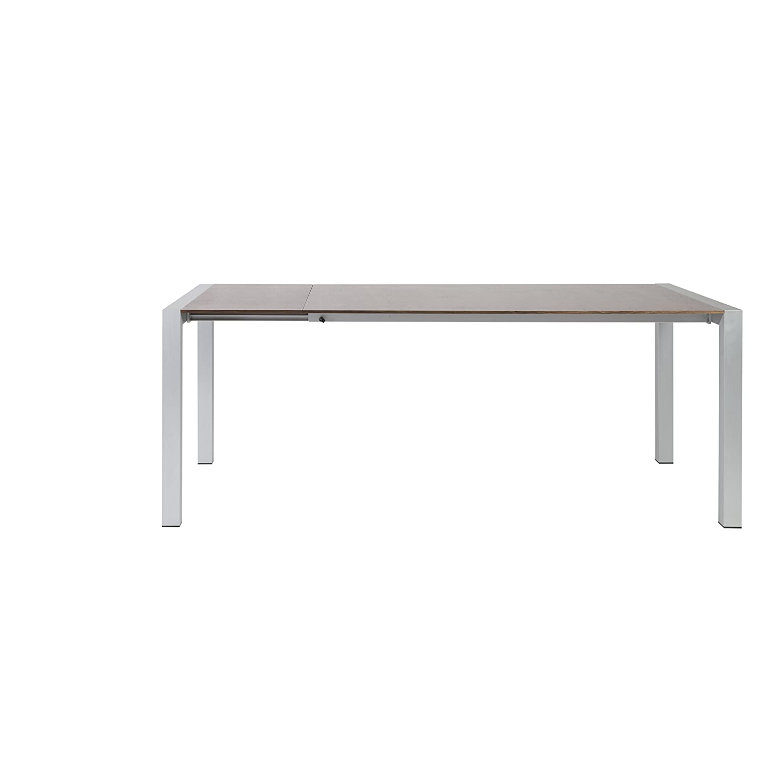 Amazon Euro Style Devon Extension Dining Table With Aluminum Legs Walnut Top Kitchen