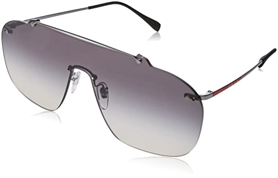 55e26c8f81222 Amazon.com  Prada Linea Rossa Men s 0PS 51TS Gunmetal Grey Gradient ...