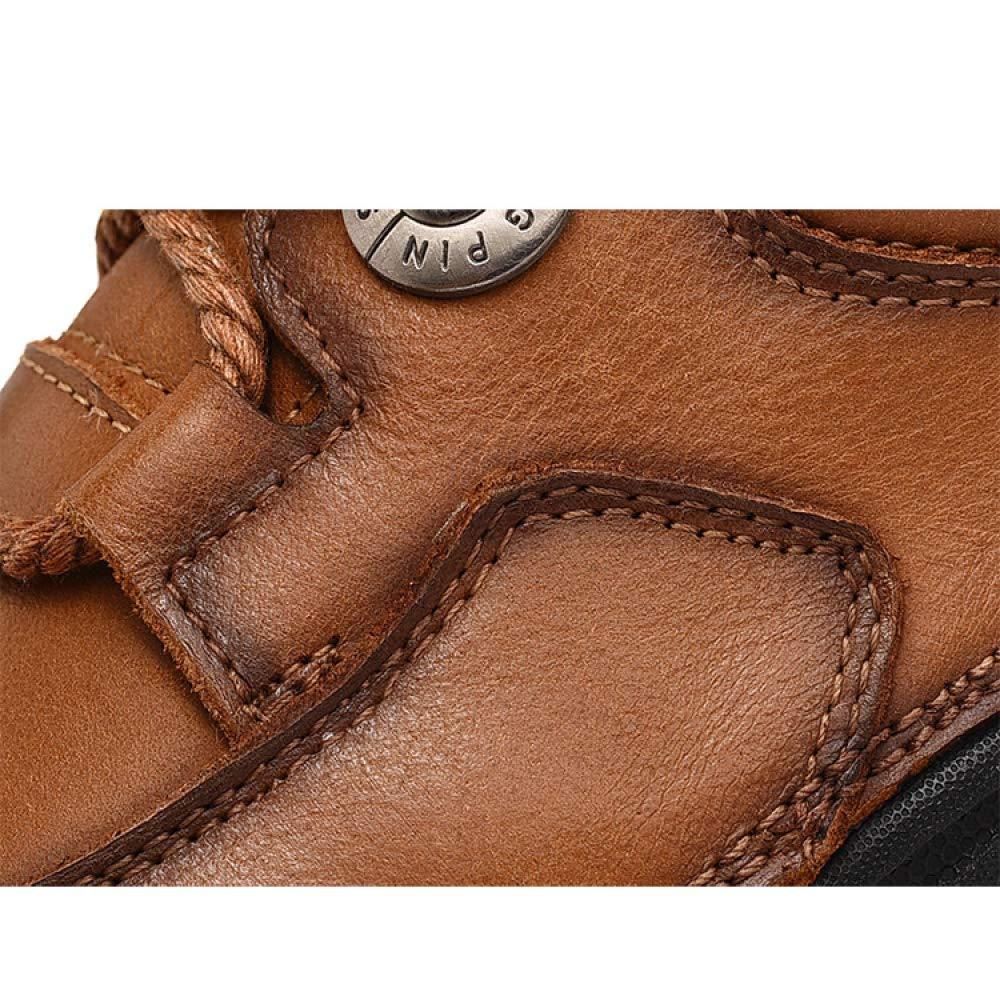 YXLONG Der Freizeitschuhe Männer Im Freien, Die Niedrige Um Schuhe der Männer Beschuht, Um Niedrige Lederne Velourslederschuhe 46 der Schuhe der Großen Größe Männer Zu Helfen khaki 21f68e